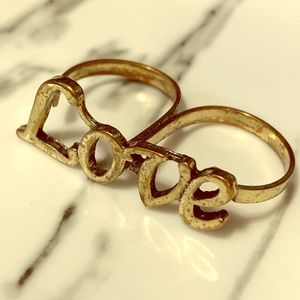 Gold Double Knuckle Ring
